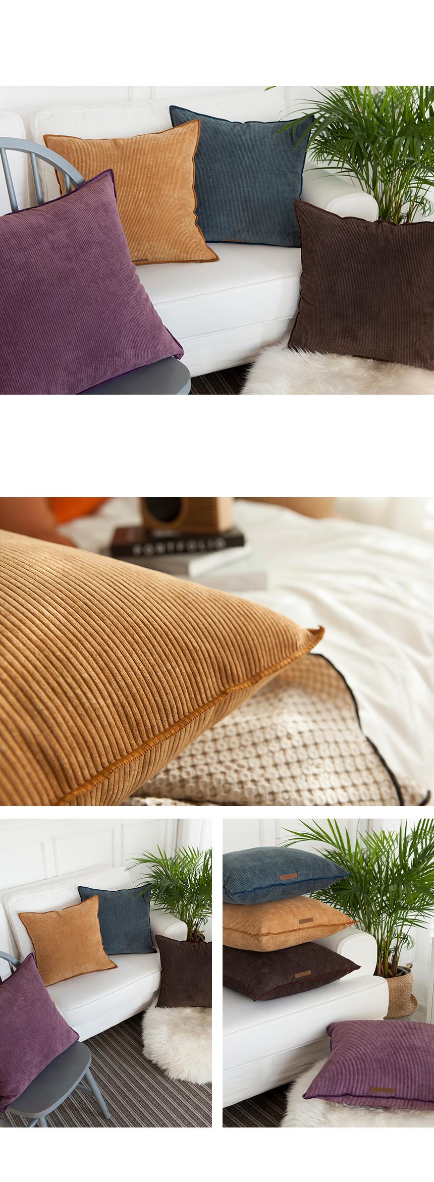 코르크 쿠션커버 - 4color - 마리하우스, 24,000원, 쿠션커버, 쿠션커버